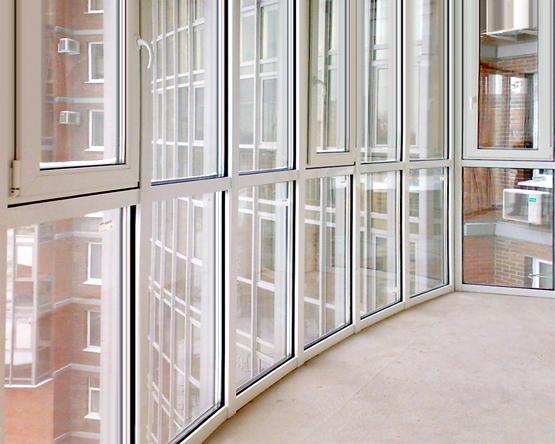Панорамное остекление балкона пвх